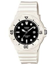 Casio Watch * LRW200H-1E Diver Look 100WR White w/Black Face Women COD PayPal