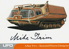 UFO Autograph Trading Card MT1 Mike Trim - Special Effects Designer