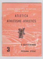 Orig.PRG   Olympische Spiele ROM 1960  - 02.09. Leichtathletik / 7 Finals !! TOP