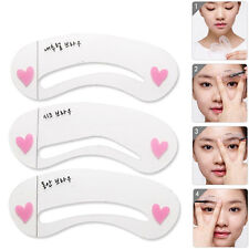 3x Grooming Shaping Assistant Template Eyebrow Drawing Card Brow Make-Up Stencil