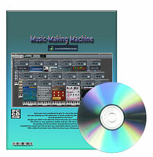Pro Music-Maker Virtual Machine Beat Creator Midi Windows XP Vista 7 CDROM
