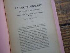 LORRAINE - LA SUEUR ANGLAISE EN ALSACE ET EN LORRAINE - 1529 TIRE A PART