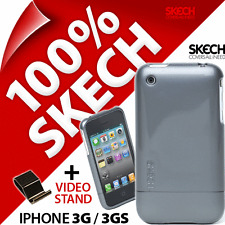 NUOVO Skech Shine Caso per iPhone 3G 3GS Titanium GRIGIO ARMOUR HARD COVER + STAND
