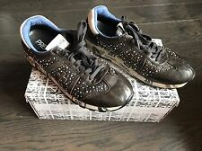 PREMIATA Women's Brown Leather Sneakers Sport Shoes Size 38 8