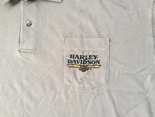 Harley Davidson front pocket polo tan Shirt Nwot Men's XL (fits XXL)