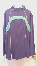 WOMAN WITHIN LONG SLEEVE JACKET ZIP FRONT PURPLE YELLOW TURQOISE SIZE 1X - NEW