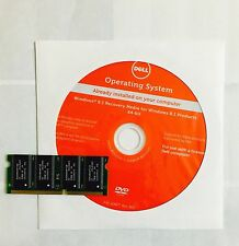Dell Windows 8.1 Pro / Home 64 bit Recovery Restore Disc New Sealed + RAM