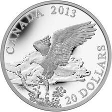 CANADA 2013 $20.00 Pure Silver Bald Eagles - Returning from the Hunt