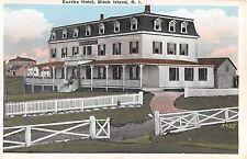 c.1920 Eureka Hotel Block Island RI post card