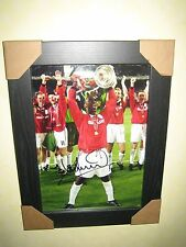 Andy Cole {Man Utd} Hand Signed Photo (8x12) Framed European Cup Final