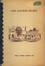 *TOLEDO OH ANTIQUE HOLY CROSS LUTHERAN CHURCH COOK BOOK *LOCAL ADS *OHIO RECIPES