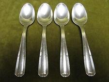 4 cuillères à café métal argenté alfenide christofle paris (coffee spoons)