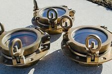"4"" ABI Round Opening Bronze Portholes portlight port hole light boat marine"