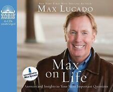 Max on Life by Max Lucado Christian Audio Book 6 CD Free Shipping Excellent!