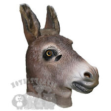 Latex Animals overhead Brown Realistic Donkey Fancy Props Stag Hen Party Masks