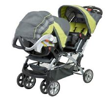 Twins Baby Strollers Car Seat Combo Double Carriage Infant Travel System For Two