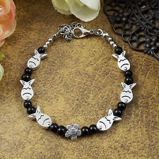 HOT Free shipping New Tibet silver multicolor jade turquoise bead bracelet S64D
