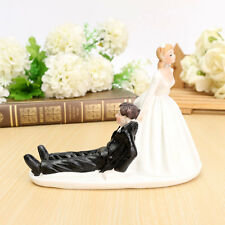 Wedding Cake Toppers Funny Bride Groom Couple Figurine Bridal Figure Decoration
