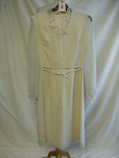 Ladies Dress - Laura Phillips, size 12, cream, vintage, 70's, chiffon - 2361