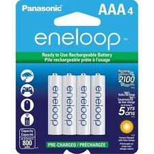 Panasonic Eneloop up to 2100 Charges 4 Pack AAA Pre-Charged Batteries NEW