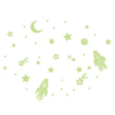 Wall Stickers Cartoon Twinkle Star Moon Glow In The Dark Luminous Decals AD