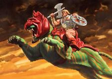 HE MAN BATTLE CAT MASTERS OF THE UNIVERSE NEW ART PRINT POSTER YF1338