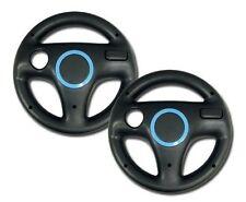 2x Pack Generic Mario Kart Racing Steering Wheel For Wii Games Black
