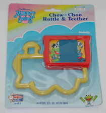 1992 Remco Baby Muppet Babies Chew Choo Rattle & Teether NIB SEALED