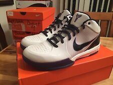 Nike Air Zoom Kobe IV 4 Four white black purple Lakers size 11 Bryant DS NEW NIB