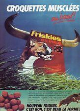 PUBLICITE ADVERTISING 034 1981 FRISKIES croquettes musclées au boeuf