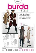 BURDA SEWING PATTERN MENS FANCY DRESS Pirate & Casanova SIZES 36 - 48  2459