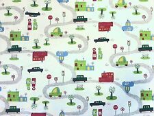 STOF TRAFFIC POLICE MULTI CHILDREN'S CAR PRINT COTTON NOVELTY CURTAIN FABRIC