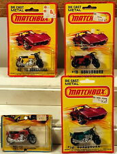 DTE 4 1975 & 1980 CARD LESNEY MATCHBOX SUPERFAST 18-B HONDARARA HONDA MOTORCYCLE