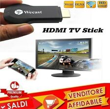 CHIAVETTA DONGLE WECAST WIFI HDMI MIRACAST AIRPLAY DLNA ANDROID MIRRORING