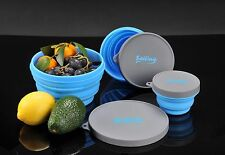 Sailing Premium Silicone Collapsible Food Prep & Storage bowl with Lids Set of 3