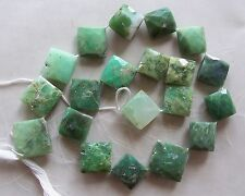 """15"""" Strand Chrysoprase Gemstone Faceted Puffed Diamond Beads 13mm-17mm"""