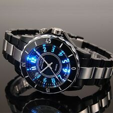 OHSEN Mens Womens Black Quartz Run Army Military Watch Hommes Femmes Montre
