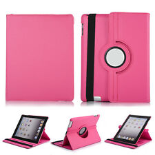 For Apple iPad 2-3-4 Air 360 Rotating Folio Stand Magnetic Leather Case Cover