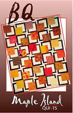 BQ Quilt Pattern for Large Scale Quilting Fabrics DIY 3 Sizes Maple Island Quilt