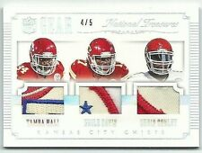 Tamba Hali Knile Davis Chris Conley 2015 National Treasures GEAR Tri-Patch 4/5