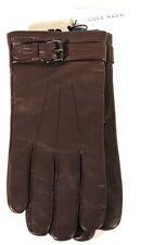 Cole Haan Mens Brown Lambskin Leather Belted Driving Dress Gloves $128 Sz L D1D