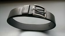$45 Calvin Klein Men's Leather Dark Gray Belt Gunmetal Buckle  40