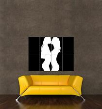 POSTER PRINT PAINTING DIGITAL GRAPHIC SAME SEX LESBIAN SILHOUETTE SEXY SEB933