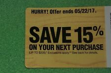 15% off Home Depot Discount Card (up to $200) Expires 5/22/2017