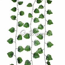 20pcs Silk Fake Plant  Ivy Leaf Garland Wired Wedding Home House Decoration