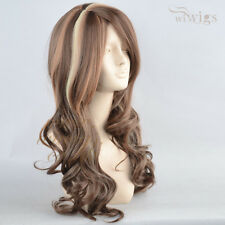 NEW Sexy Beautiful Long Wavy Cocoa mix wig Brown mix Blonde Wigs from WIWIGS UK