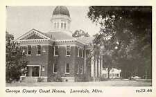 LUCEDALE MS George County COURT HOUSE  near BILOXI MS d postcard