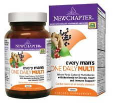 New Chapter EVERY MAN'S ONE DAILY MULTI Energy Heart Immune Support 48 Tablets