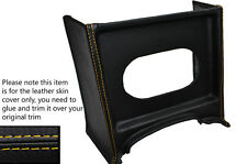 YELLOW STITCH CONSOLE GRILL RADIO SURROUND LEATHER SKIN COVER FITS MG MGB EARLY