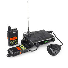 Baofeng mini-1 UHF400-470MHz 15W 2-Way Car Mobile Radio +2X Ham Walkie Talkies